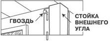 Крепеж вертикального сайдинга