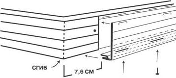 Крепеж фаски к доске фаски
